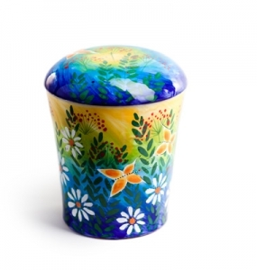 Urne Keramikbunt 3 by Robert Tober, Symbolfoto