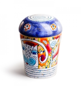 Urne Keramikbunt 4 by Robert Tober, Symbolfoto